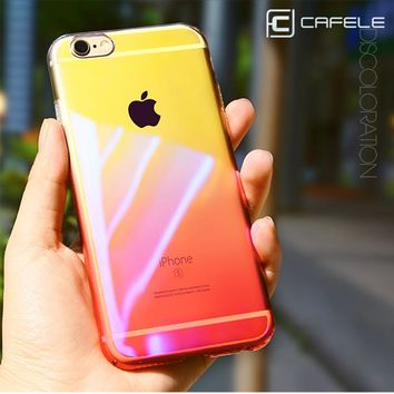CAFELE Original phone Cases for iphone 6 6s Luxury Aurora Gradient Color Cover Case for iphone 6 Plus Thin Phone Back shell