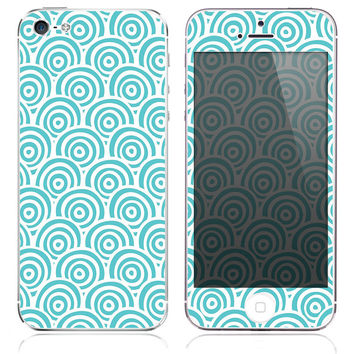 Turquoise Circles Skin for the iPhone 3gs, 4/4s, 5, 5s or 5c