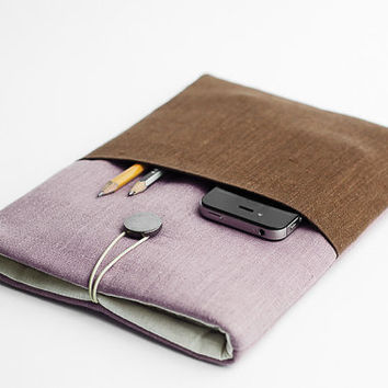 Macbook Retina sleeve, Macbook 13 inch case, Macbook Air sleeve, minimal sleeve, with a pocket