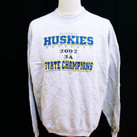 Retro HUSKIES American Football College Preppy Jumper Sweater XL