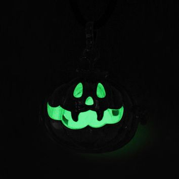 Halloween  Jewelry  Pumpkin  Locket  Pendant  Angel