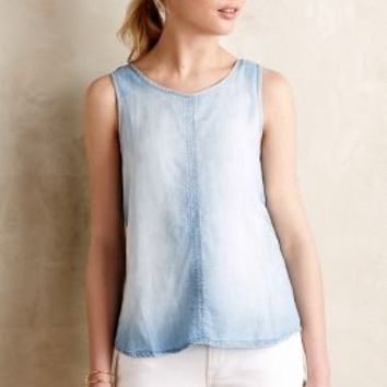Chambray Scoop Tank by Cloth & Stone Light Denim
