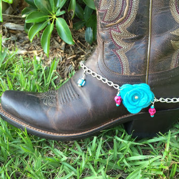 Boot Bling, Boot Jewelry, Boot bracelet, Turquoise Jewelry