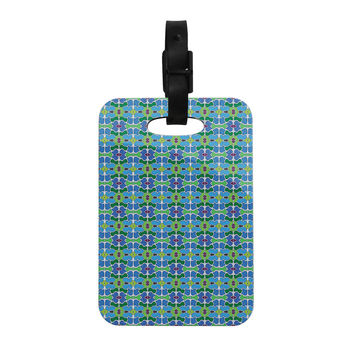 "Empire Ruhl ""Sea Glass"" Decorative Luggage Tag"