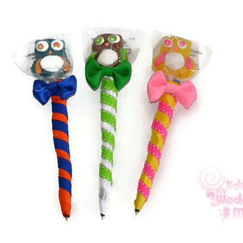 Owl Lollipop Pen, Owl Candy pen, Owl Party Favor, Owl, Favor, Candy, Lollipop, Sweet 16, Quinceanera, Birthday, Sweet sixteen, edible favor