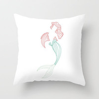 Ariel Little Mermaid Throw Pillow by DanielBergerDesign