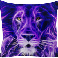 Abstract Lion Custom Couch Pillow