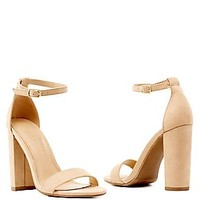 Chunky Heel Two-Piece Sandals