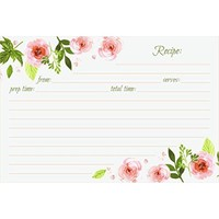 Jot & Mark Recipe Cards Floral Double Sided 4x6 50 Count (Pink Peonies) - Walmart.com