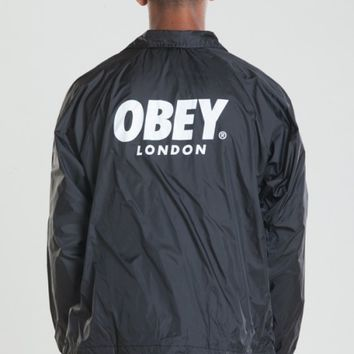 OBEY WORLDWIDE LONDON COACHES JACKET