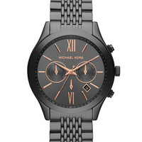 Michael Kors Oversize Gray Stainless Steel Brookton Three-Hand Watch