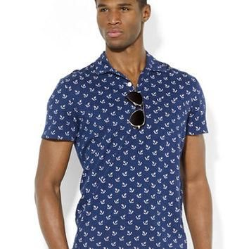 Polo Ralph Lauren Anchor-Print Jersey Polo Shirt