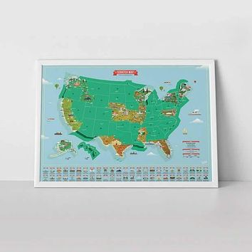 Luckies of London - Scratch Map® USA Landmarks