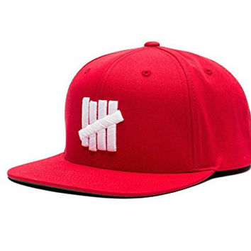 Undefeated 5 Strike Snapback In Red Size O/S