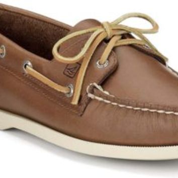 Sperry Top-Sider Authentic Original 2-Eye Boat Shoe TanLeather, Size 9.5M  Women's Shoes