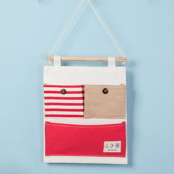 Cotton Linen Stripes Patchwork Storage Multi-function Bags [6377498628]