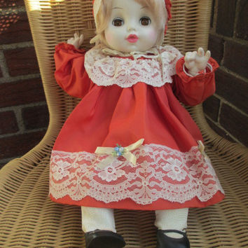 BABY GIRL HORSMAN Doll Vintage Blinking Eyes