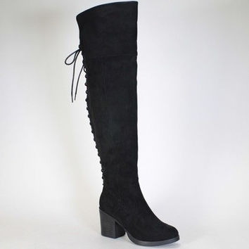 Over The Knee Boots- Black