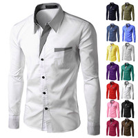 Dress Shirts Mens Striped Shirt