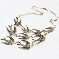 Dancing Swallow Collar Statement Necklace | LilyFair Jewelry