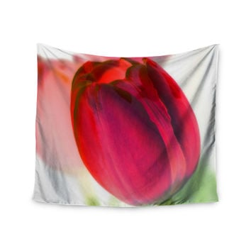 "Alison Coxon ""Tulips"" Red White Wall Tapestry"