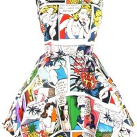 Comic Strip Skater Dress