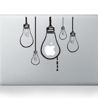 Lamp Bulb Macbook Decals Skin Stickers Mac Pro Decal Mac Air for Apple Macbook 13 15 Inch