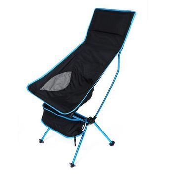 DCCK7N3 Portable Folding Fishing Chair Detachable Aluminium Alloy 7050 Extended Seat Chair for Camping Hiking Outdoor Activities