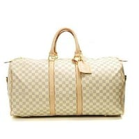 Louis Vuitton LV Women Fashion Leather Travel Satchel Handbag Shoulder Bag Big luggage Bag