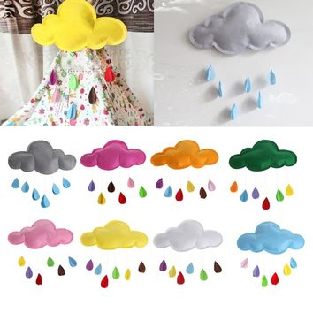 S-home New Baby Kids Room Nursery Home Cloud Raindrop Wall Mural Decor Stickers Decal MAR25