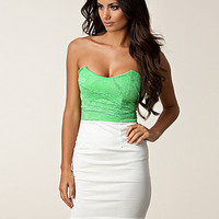 Lace Upper Bandeau Dress, Club L