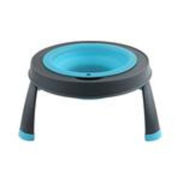 Popware Single Elevated Dog Bowl - Blue