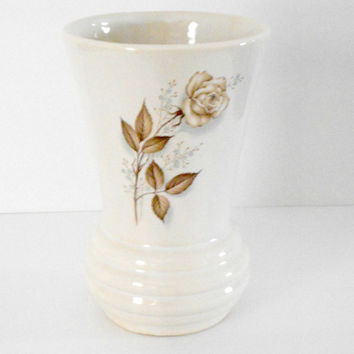 Antique Vase McCoy Brown Rose