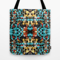 Human Pattern 1 Tote Bag by Barruf designs