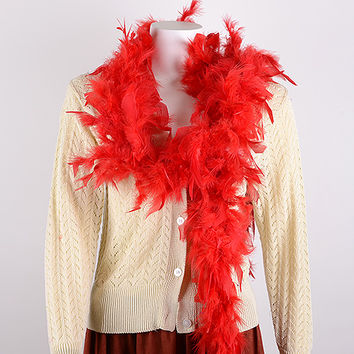 Others - Red - Feather Boas
