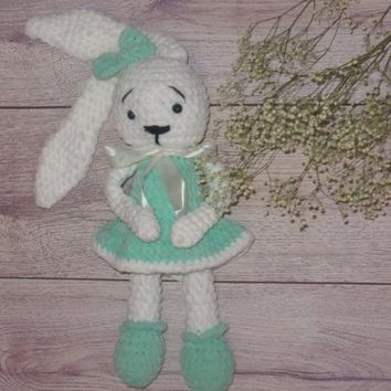 Bunny Amigurumi  Crocheted  Rabbit Crochet Soft Toy Plush toy