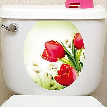 Decorative Wall Stickers Toilet Stickers - Plane Wall Stickers 3D Floral / Botanical Living Room Bedroom Bathroom Kitchen Dining Room