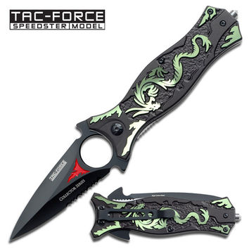 Spring Assist - Green Dragon Knife - Spear & Spike Tactical