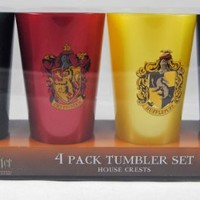 Wizarding World of Harry Potter House Tumbler Cup Set 4 Cups