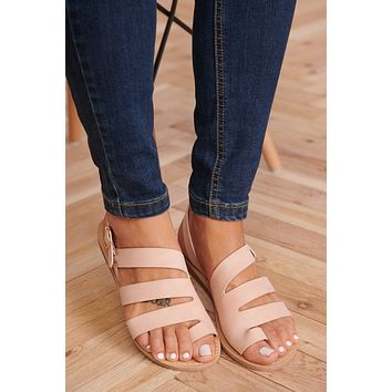 Strappy Perfection Sandals (Blush)