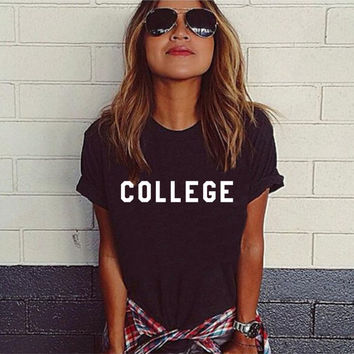 College Short Sleeve Tshirt