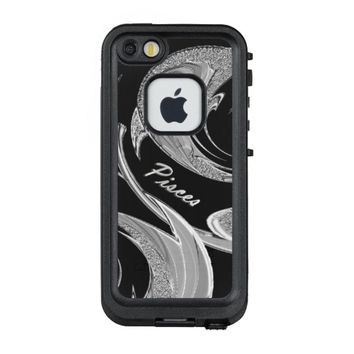 Abstract Silver Pisces Zodiac LifeProof® FRĒ® iPhone 5 Case
