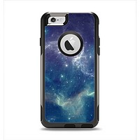 The Subtle Blue and Green Nebula Apple iPhone 6 Otterbox Commuter Case Skin Set
