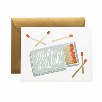 Make A Wish Greeting Card by RIFLE PAPER Co. | Made in USA