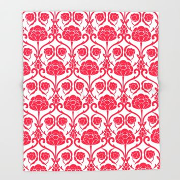 Blossomy Throw Blanket by All Is One