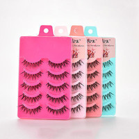 5 Pairs Natural Soft Eye Lashes Makeup Handmade Thick Fake False Eyelashes