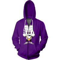 F You Just Lean Zip Up Hoodie