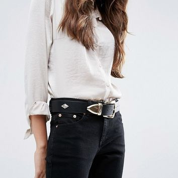 ASOS Wide Clean Western Waist And Hip Belt at asos.com