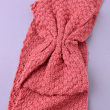 Bow Knit headband (Rose)
