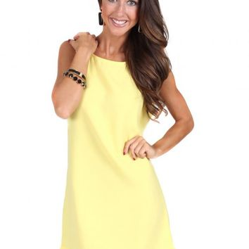 Nothing To Lose Yellow Scallop Shift Dress | Monday Dress Boutique